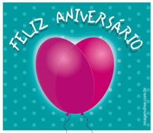 cartão de Aniversário com balão