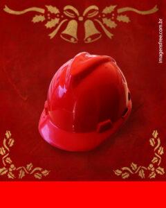 natal capacete vermelho
