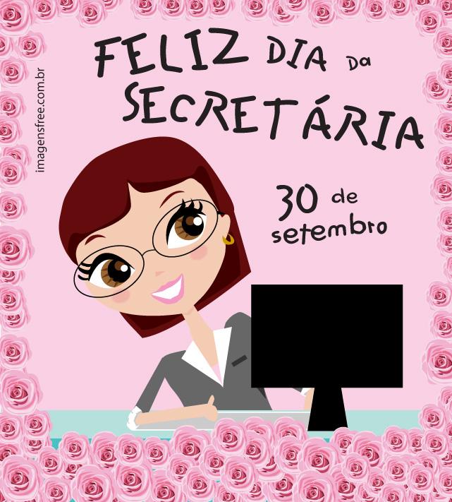 dia da secretaria mensagem ilustracao