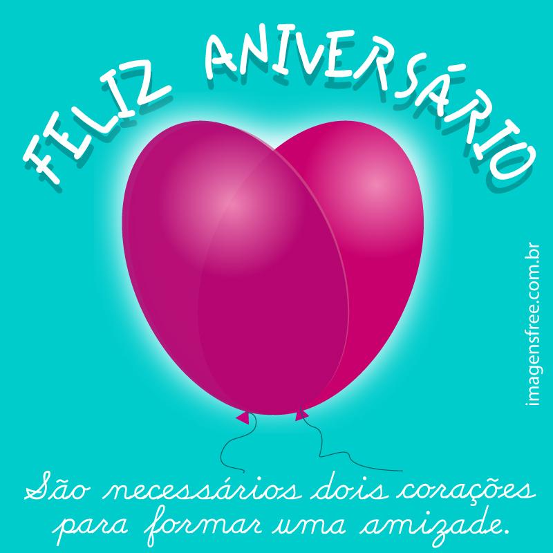 Frases Feliz Aniversário Amiga Com Ilustração Compartilhe