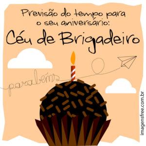 mensagem de aniversario brigadeiro