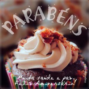 mensagem feliz aniversario cupcake
