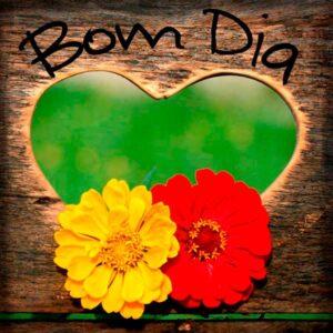 bom dia com carinho com flores
