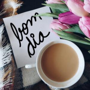 bom dia feliz café da manhã