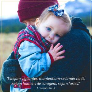 versículos dia dos pais com menina