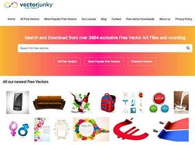 Vector Junky é um banco de imagens vetoriais gratuitas para você baixar vetores e usar em seus projetos