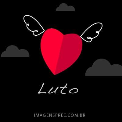 Mensagem delicada de luto com ilustração de coração com asas de anjo. O coração é como a alma voando em direção a casa do Senhor