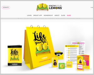 kit material promocional para campanha contra o câncer de mama