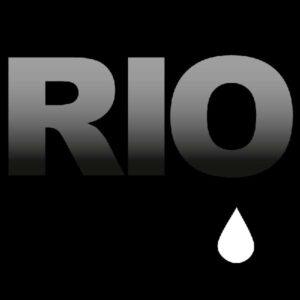 Ilustração sobre luto Rio de Janeiro com a palavra RIO e uma lágrima