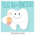 Parabéns pelo Dia do Dentista. Imagem com ilustração de dente