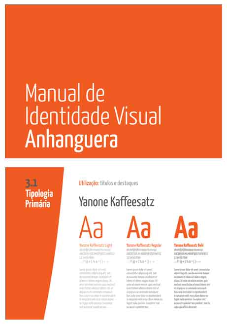 Manual Identidade Visual Anhanguera