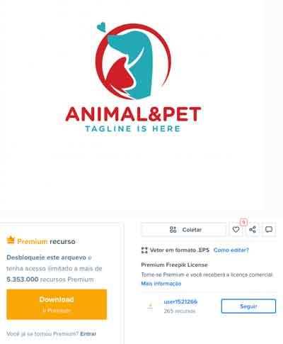 site logso pet shops gratis e premium