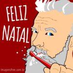 Cartão de Natal para odontologia