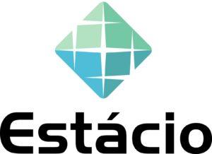 Logotipo Estácio vertical, sem sombra e sem volume