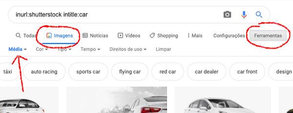 Imagem do ShutterStock sem marca d' água no Google