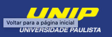 Logotipo Universidade Paulista UNIP fundo azul