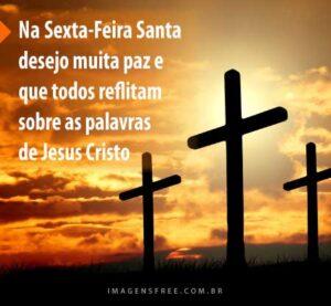 Mensagens de Semana Santa com as cruzes do calvário
