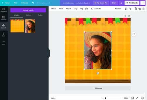como fazer convite de festa junina online no canva