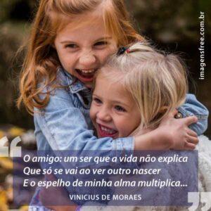 Mensagem de amizade para amiga - Vinicius