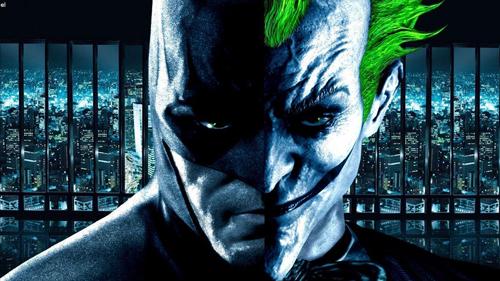 Batman Coringa no mesmo rosto