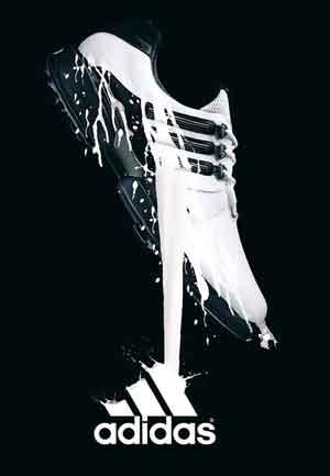 Plano de Fundo da Adidas com fundo preto e foto de tênis