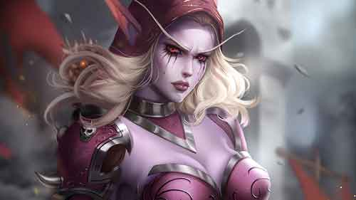 Wallpaper de Sylvanas Windrunner do World of Warcraft